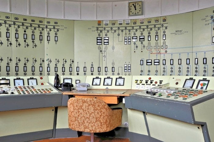 An abandoned control center