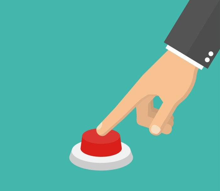 An illustration of a hand clicking a button