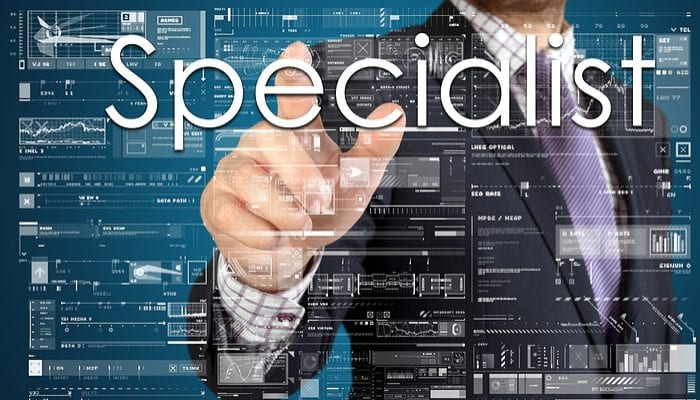 Website Data that shows you are a specialist