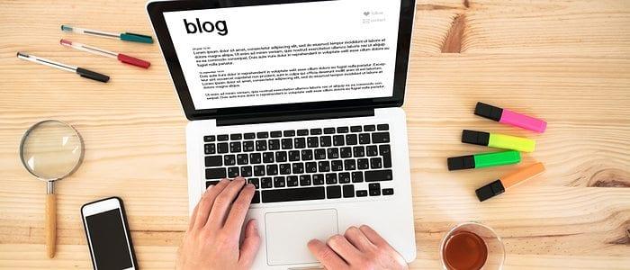 hands on computer blogging regularly