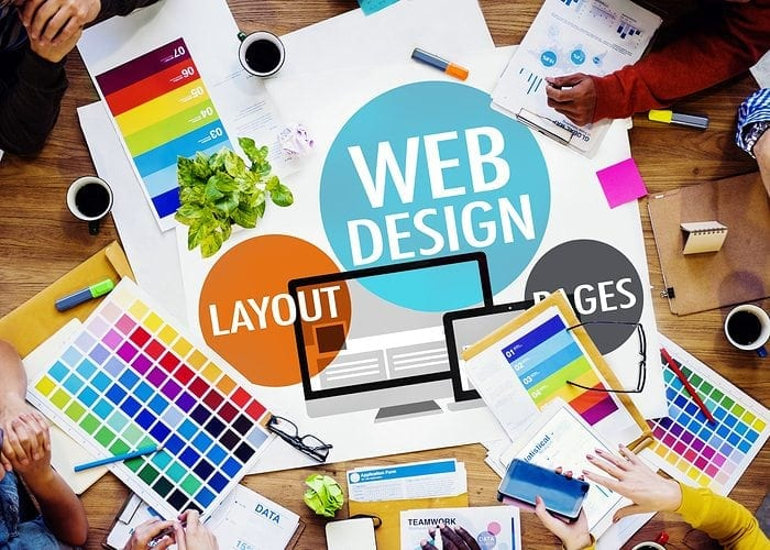 Web Design showing importance of color and content