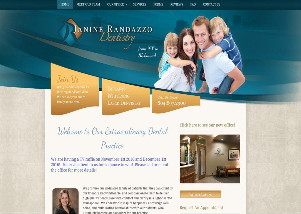 dr janine pandazzo dentistry website