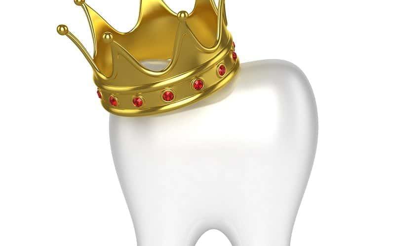 Crown on top of Dental Tooth
