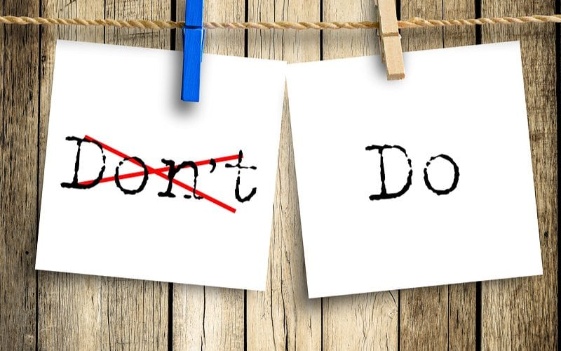 Post it with Do's & Don'ts