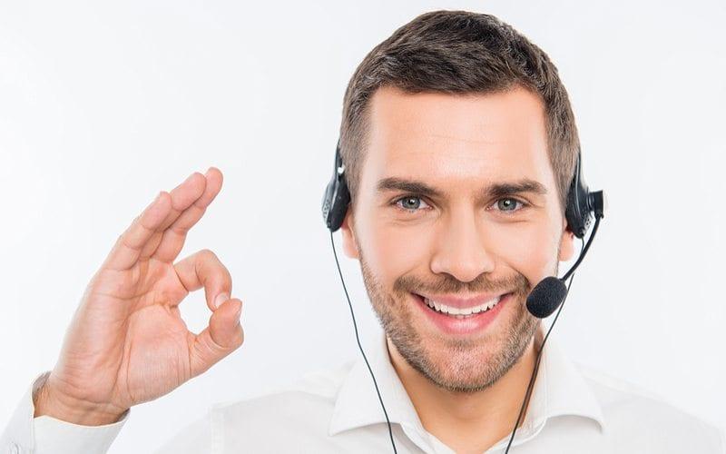 Guy saying okay with Call
