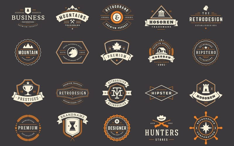 Image displaying various types of logo design approaches