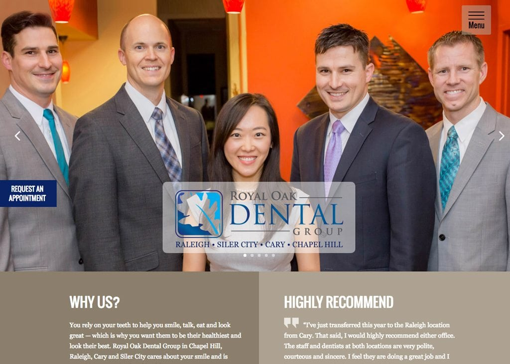 Royal Oak Dental Group Website
