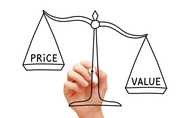 price and value scale