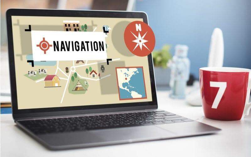 navigating a website
