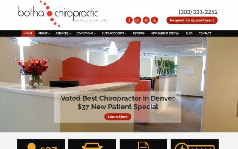 chiropractic website tips