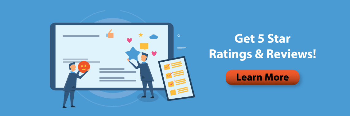 get just 5 star ratings and reviews