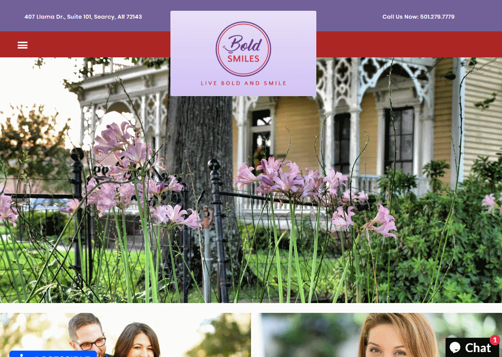 Boldsmiles.com - Screenshot showing the homepage of the Bold Smiles website